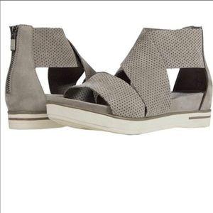 Eileen Fisher Sport Sandal Perforated Gray Nubuck